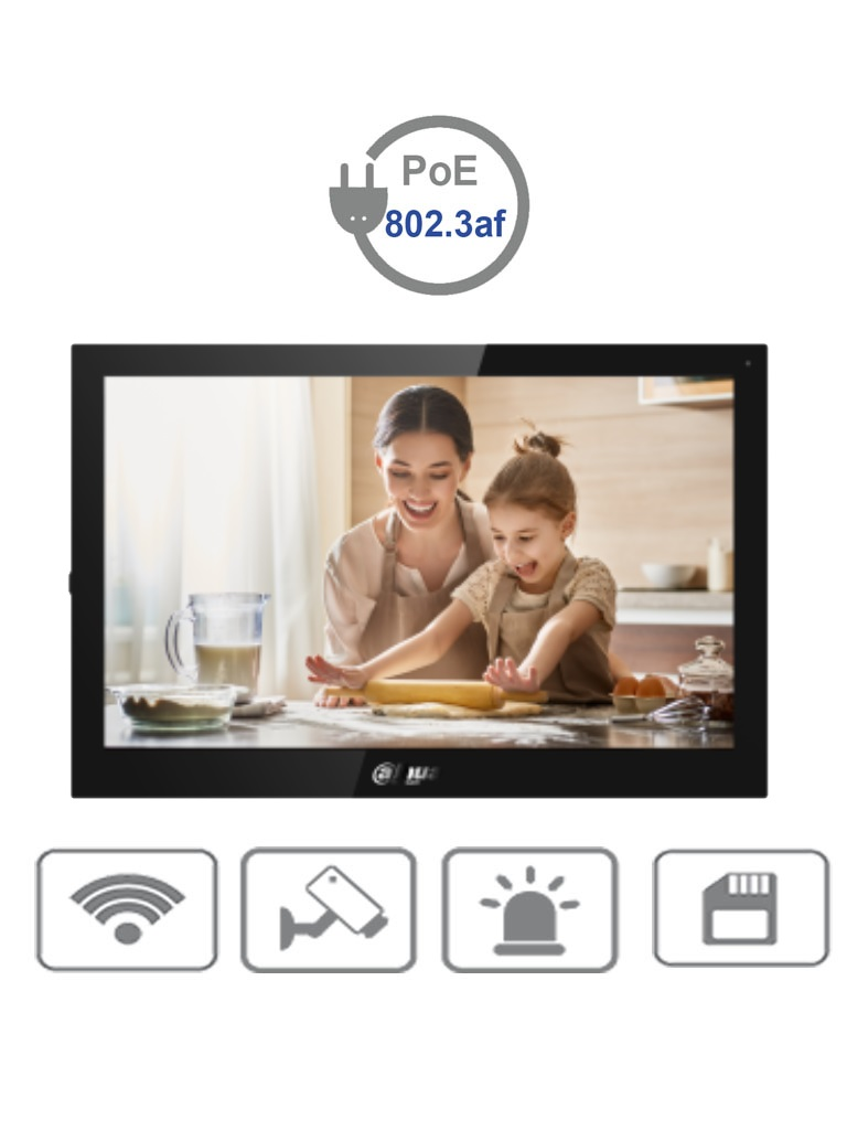 DAHUA VTH5341G-W - Monitor para Videoportero  o Medición de temperatura/ 10 Pulgadas/ Android/ Wifi y Rj45/ Pantalla Touch/ Ranura para MicroSD/  PoE estándar #TocToc #COVID19 #RETAIL