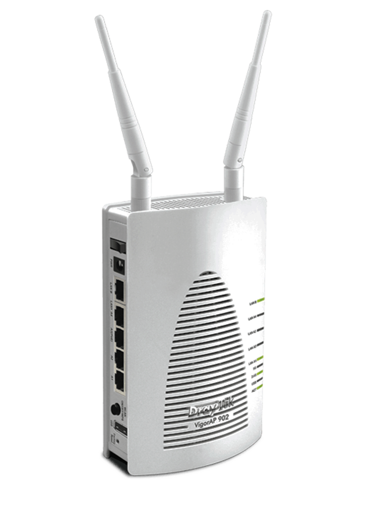 DRAYTEK VIGORAP902- PUNTO DE ACCESO INALAMBRICO DE DOBLE BANDA/ POE/ 4 SSID POR RADIO/ 5 PUERTOS GIGABIT LAN/ PUERTO USB/ WDS