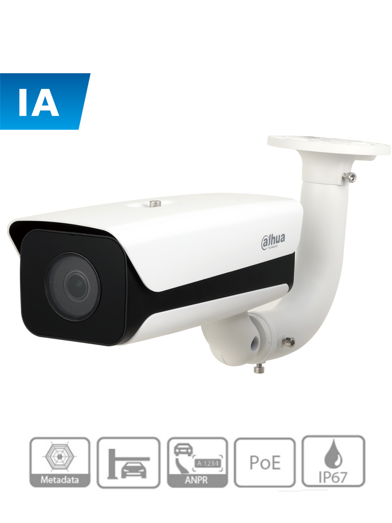 DAHUA ITC215-PW4I-IRLZF27135 - Camara IP ANPR de 2 MP/ H265/ Reconocimiento de placas/ Recomendable para Accesos/ Lente motorizado 2.7 mm a 13.5 mm/ WDR/ IP67