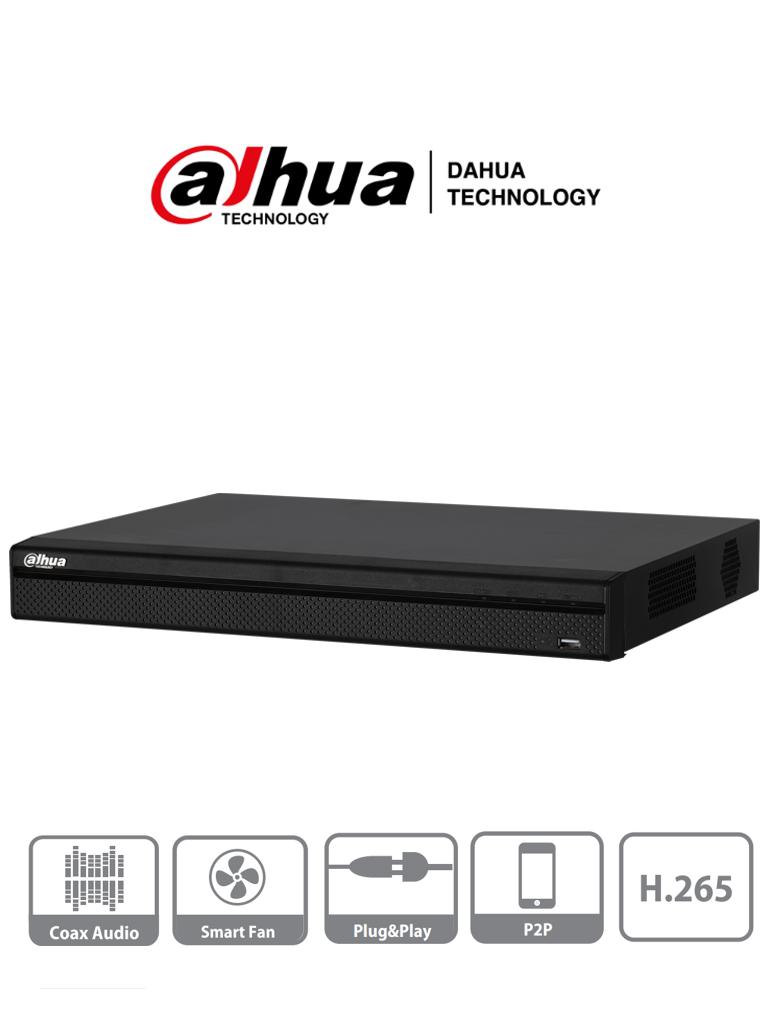 DAHUA XVR4232AN-X - DVR 32 Canales Pentahibrido/ 1080p Lite/ 720p/ H.265/ 2 Bahias de Discos Duros/ 1 HDMI/ P2P/ Soporta 16 Canales IP/ #NuevoPrecio