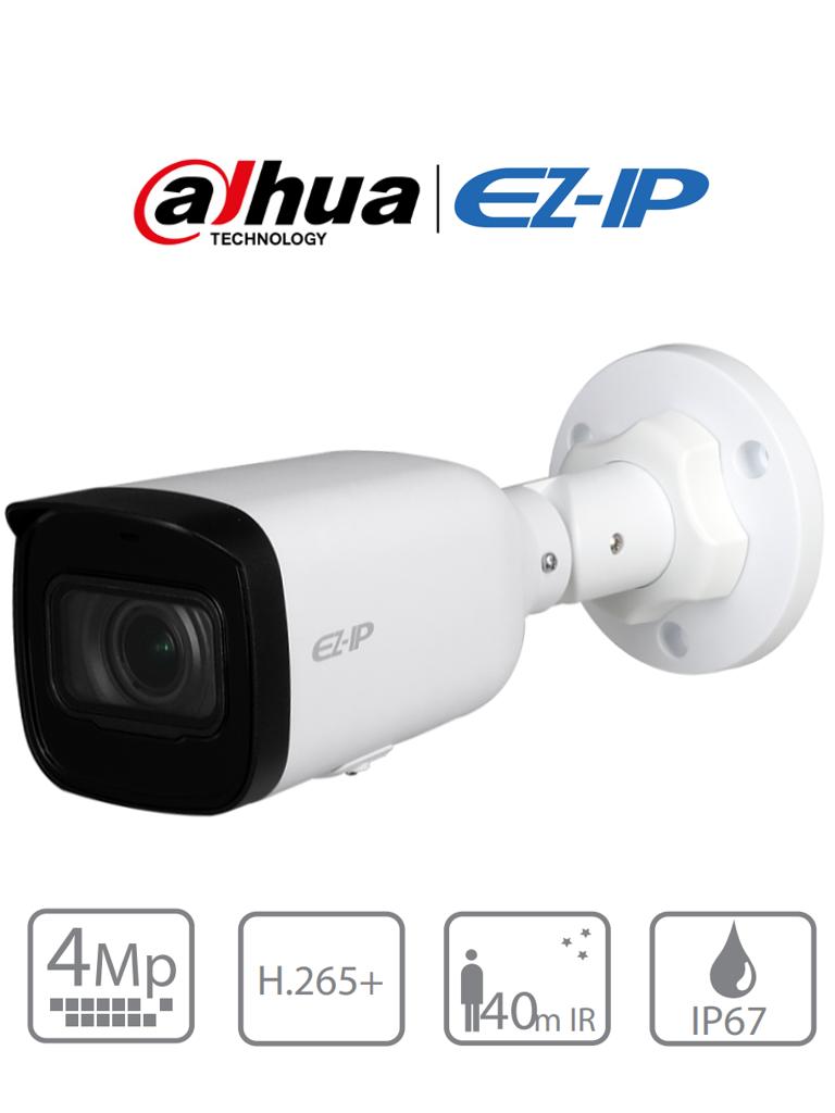 DAHUA EZIP IPC-B2B40-ZS - Camara IP Bullet 4 Megapixeles/ Lente Motorizado de 2.8-12 mm/ H.265+/ IR 40 Mts/ IP67/ PoE/ Ranura para MicroSD/ DWDR/ PROMIDH