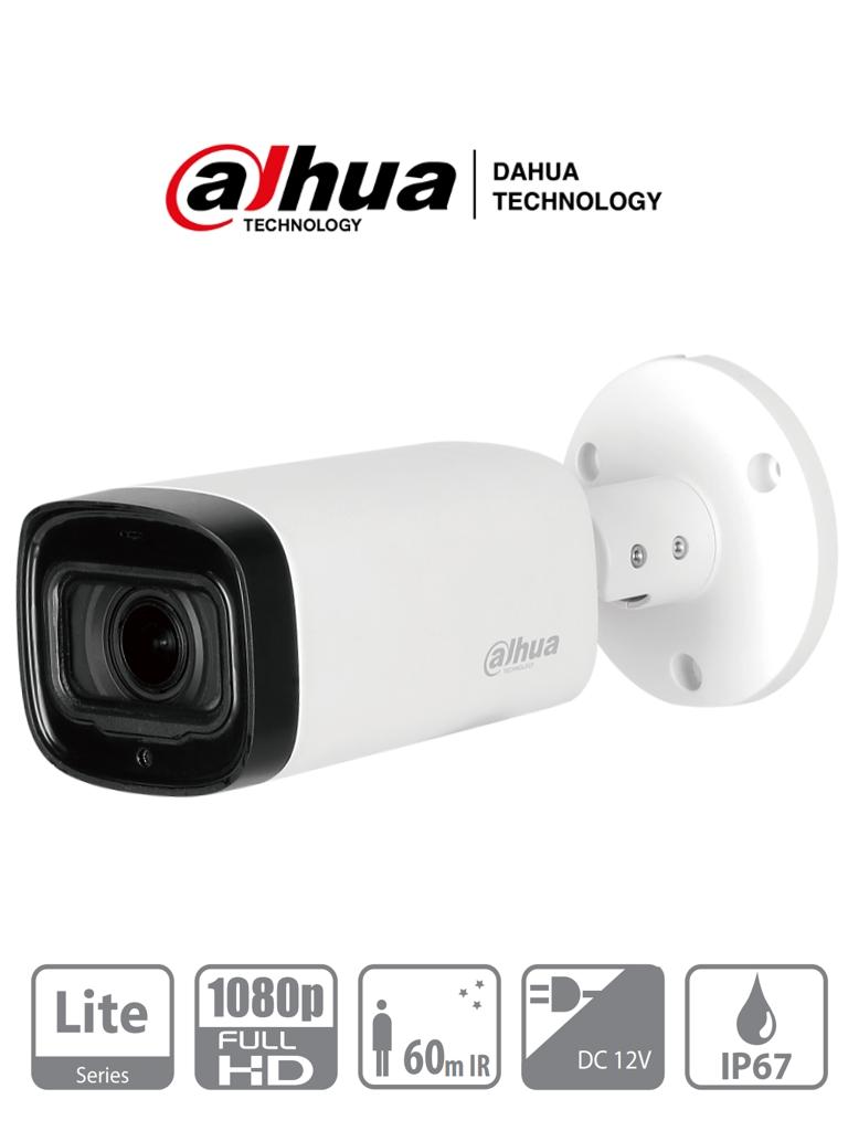 DAHUA HAC-HFW1200R-Z-IRE6 - Camara Bullet  HDCVI 1080p/ Lente Motorizado 2.7mm - 12mm/ IR 60 Mts/ IP67 / Metalica/ DWDR/ AGC/ 2DNR/ BLC/ HLC/ #hotsale
