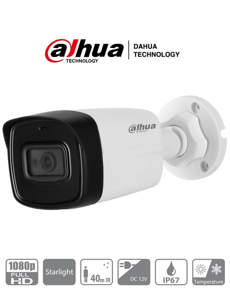 DAHUA HAC-HFW1230TL-28 - Camara Bullet HDCVI 1080p / Lente de 2.8mm/ 106 Grados de Apertura/ IR 40 Mts/ IP67/ STARLIGHT 0.005 Lux/ BLC / HLC / DWDR/ TVI AHD y CBVS/