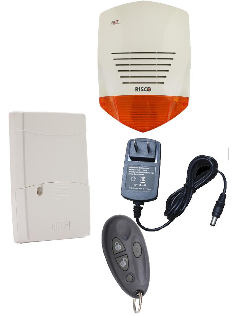RISCO SIRENA VECINAL 1 - Sirena PROSOUND  G3 con opcion de bateria de respaldo 12V 2.2 A MP / Receptor y 1 boton inalambrico RISCO / Mas de 50 mandos