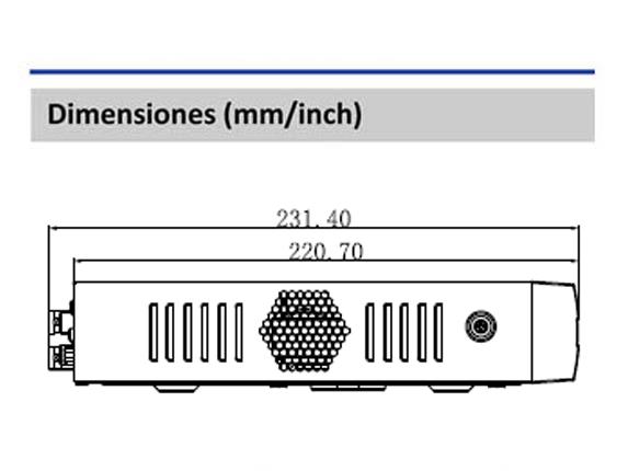 Dimensiones_DVR XVR1B16H_Vista Lateral_400 x 430