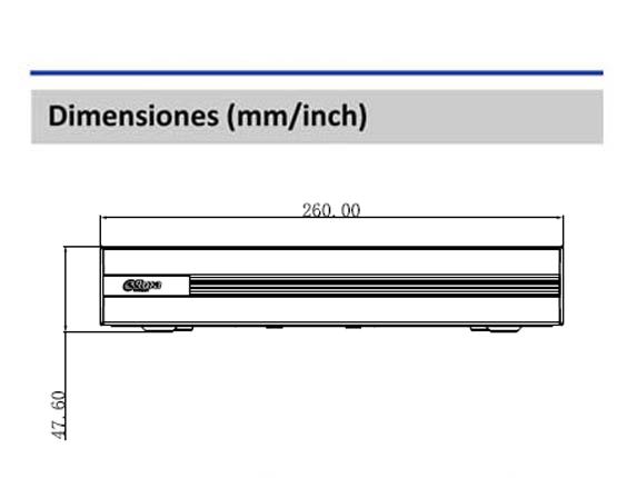 Dimensiones_DVR XVR1B16H_Vista Frontal_400 x 430