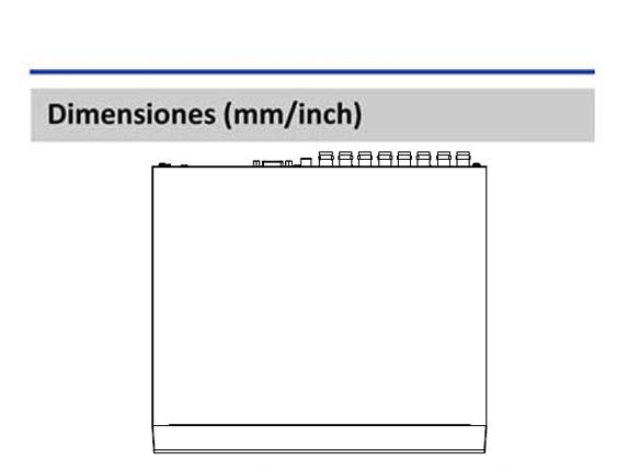 Dimensiones_DVR XVR1B16H_Vista Superior_400 x 430