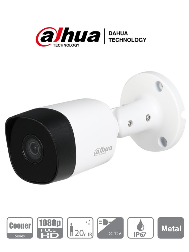 DAHUA COOPER B2A21 - Camara Bullet HDCVI 1080p/ 720p/ 93 Grados de Apertura/ Lente 3.6 mm/ IR de 20 Mts/ IP67/ Metalica/ TVI AHD y CVBS/ #NuevoPrecio