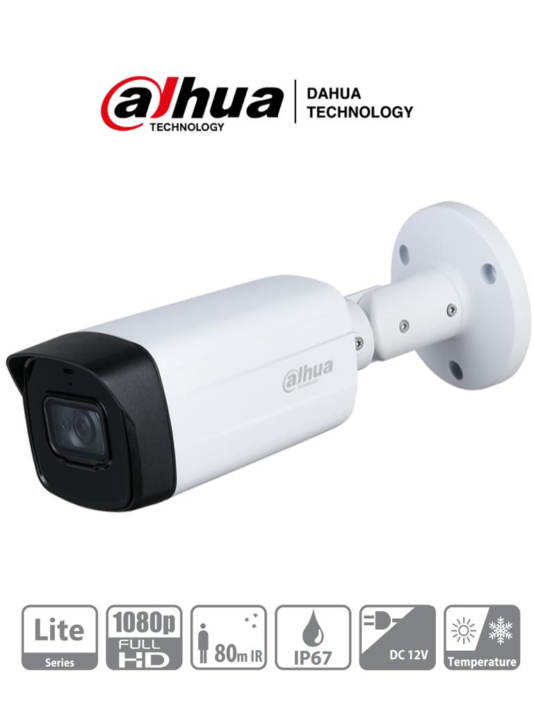 DAHUA HFW1200TH-I8 - Camara Bullet HDCVI 1080p/ Lente de 3.6mm/ Smart IR de 80 Mts/ IP67/ DWDR/ BLC/HCL/ Metal y Plastico