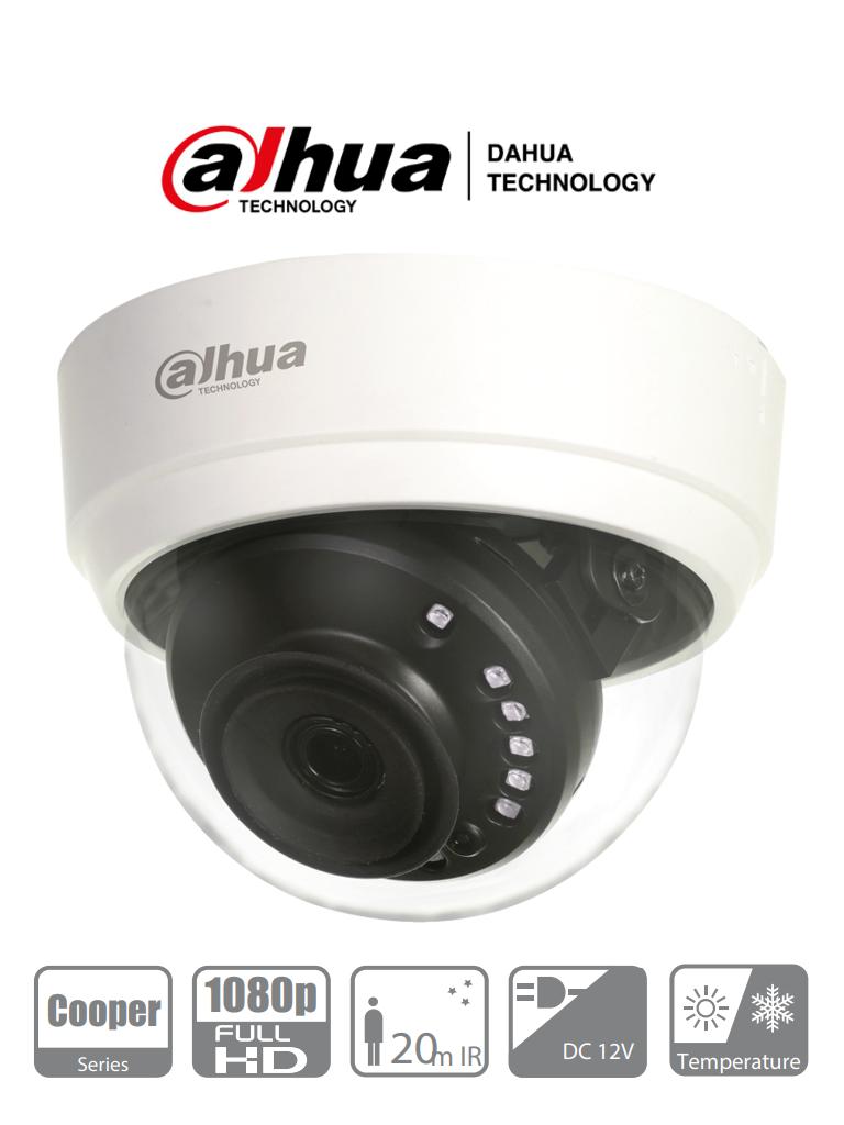 DAHUA COOPER D1A2128 - Camara Domo HDCVI 1080p/ 103 Grados de Apertura/  Lente de 2.8 mm/ IR 20 Mts/ Uso Interior/ TVI AHD Y CVBS/ PROMCDH/ PROMOTCD