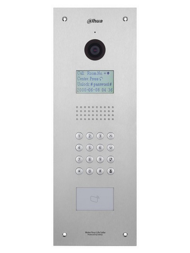 DAHUA VTO1210CX- FRENTE DE CALLE IP PARA APARTAMENTOS/ CAMARA 1.3 MP/ HASTA 1 000 MONITORES/ IK07 / DETECCION DE PRESENCIA/ IP54/ APERTURA CON TARJETA