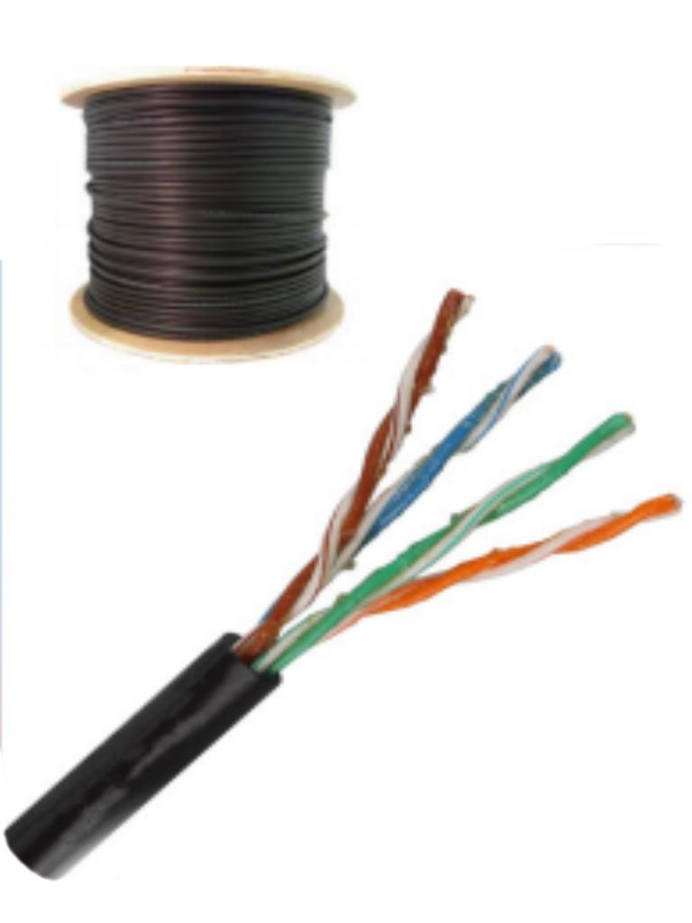 SAXXON OUTPCAT5EGCOPEXT- Cable UTP 100% cobre de 305M/ Categoria 5e con gel/ Exterior/ Color negro/ Para aplicaciones CCTV y redes