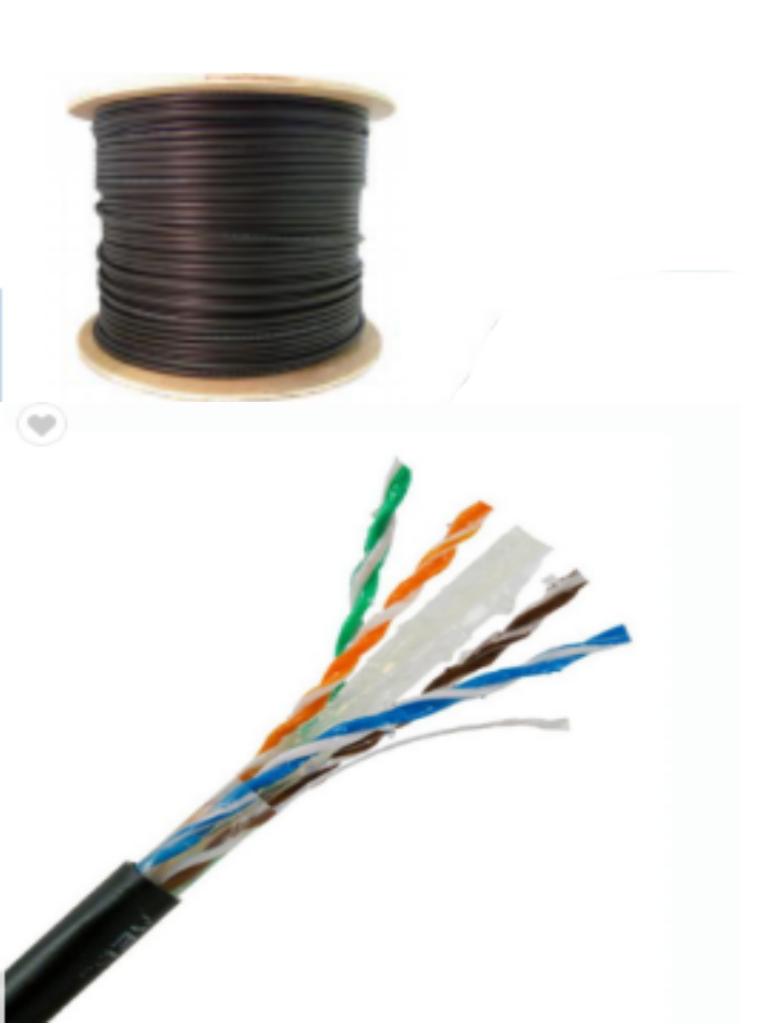 SAXXON OUTPCAT6GCOPEXT- Cable UTP 100% cobre de 305M/ Categoria 6 con gel/ Exterior/ Color negro/ Para aplicaciones CCTV y redes