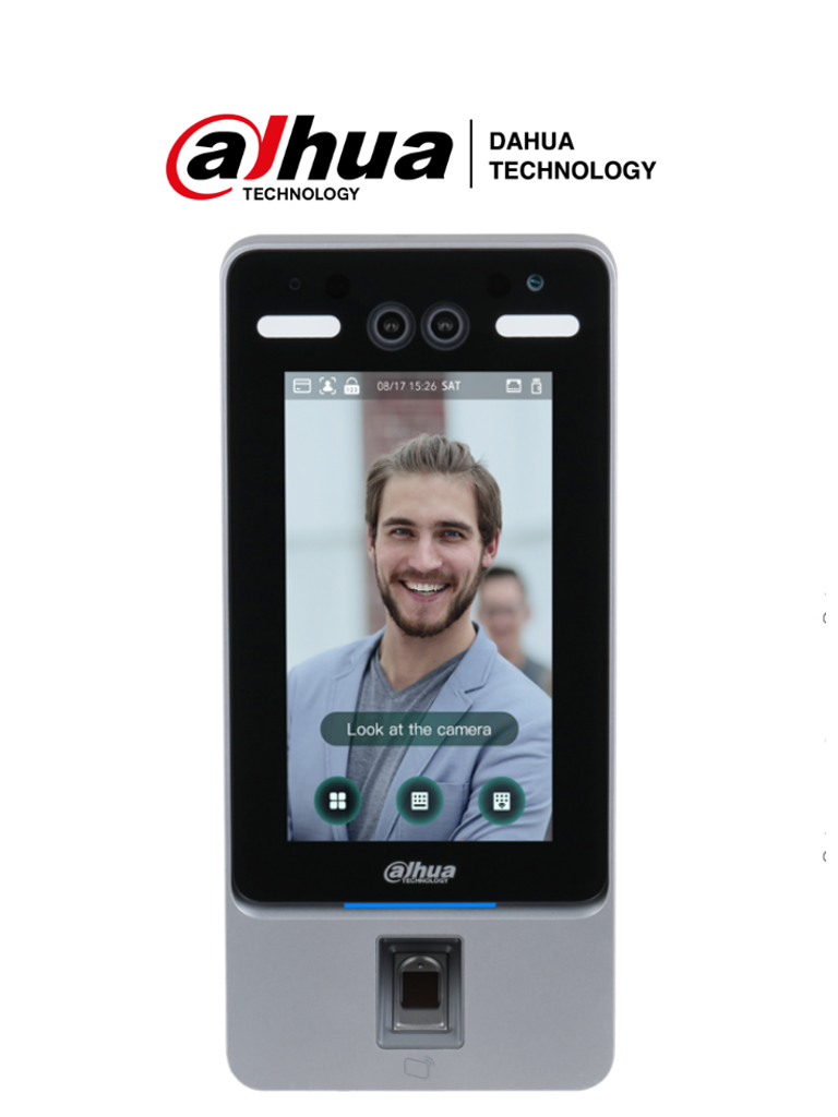 DAHUA ASI4214Y - Control de Acceso con Reconocimiento Facial/ WiFi/ P2P/ 2000 Huellas/ 2000 Rostros/ 2000 Tarjetas MIFARE