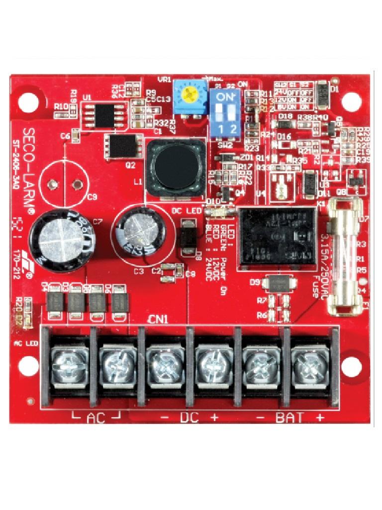 SEC ST24063AQ - Fuente de Poder con Cargador Bateria 2.5 amp 6/12/24 VCD