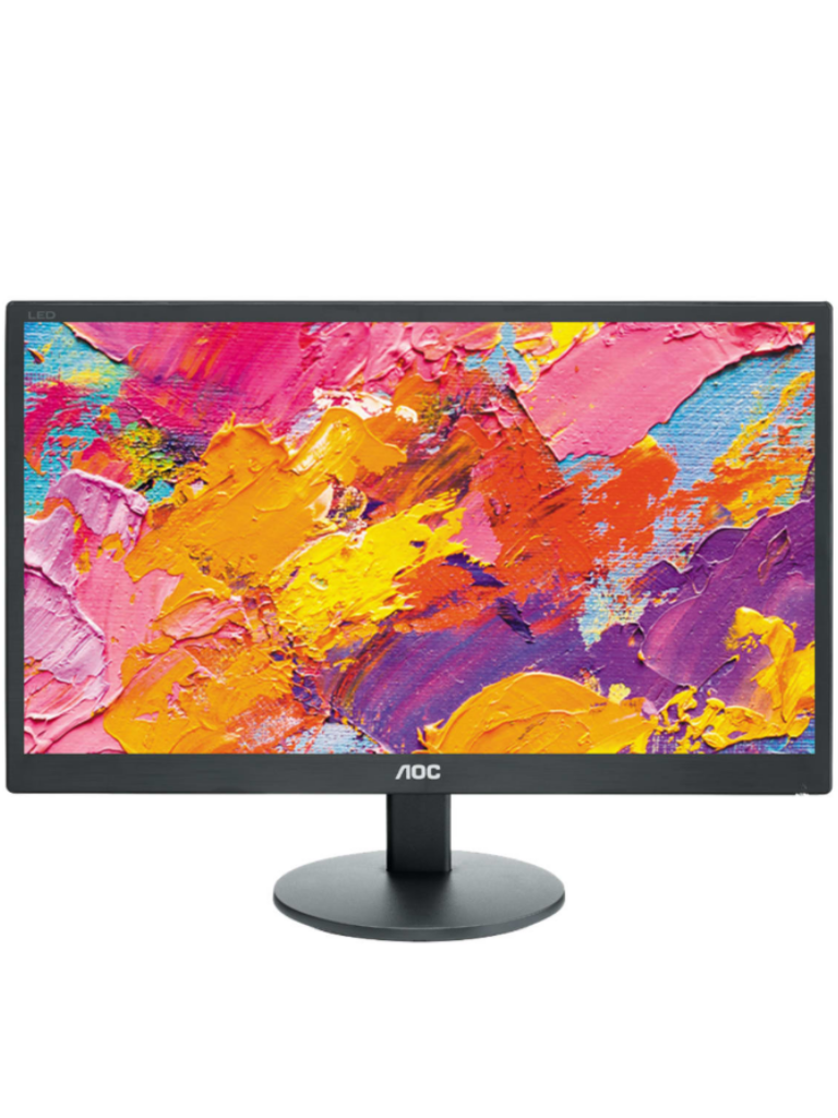 AOC E2070SWHN - Monitor de pantalla plana  LED / Tamano de 20 pulgadas / Entrada de video  HDMI / VGA/  Resolucion 1600 x 900 / Brillo 200 CD / M2