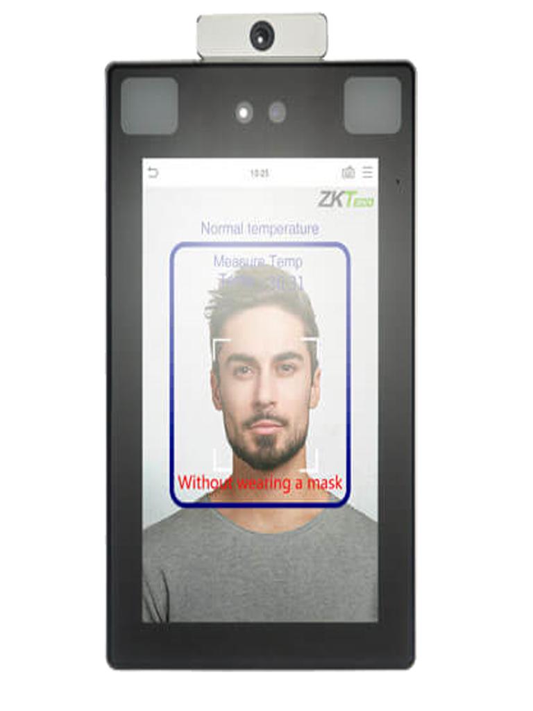 ZKTECO PROFACEX-TD Terminal de Control de Acceso con Reconocimiento Facial / Palma / Antipandemico / Detección de Temperatura / 30 000 Rostros / 5 000 Palmas / IP68 / IK04 / TCP/IP (Sobrepedido)