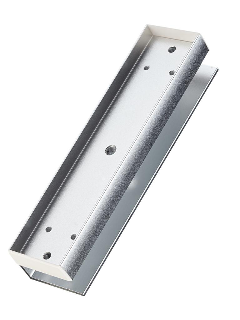 YLI MBK180U - Sopote U para contrachapa magnetica para uso en puertas de Vidrio sin marco compatible con YM180 de 350 Lb