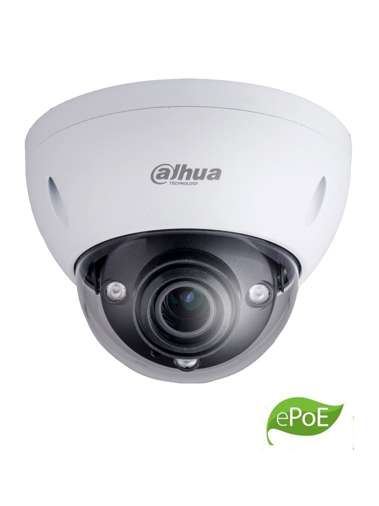 DAHUA IPCHDBW5831EZE - Camara IP domo antivandalico 4K / 8  MP / Lente motorizado 2.7 mm - 12 mm / H265+ / IP67 / IK10 / WDR Real / HLC / Ir 50  Mts /  PoE+ / E PoE