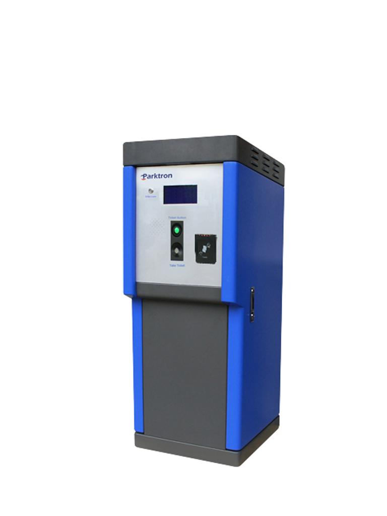 PARKTRON CENT2097 - Terminal de entrada dispensadora de chipcoin para sistema de cobro de estacionamientos/ pantalla de 7 pulgadas/ Lectora pensionados