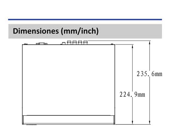 Dimensiones_DAHUA XVR5108HSX_Vista Superior_400 x 430