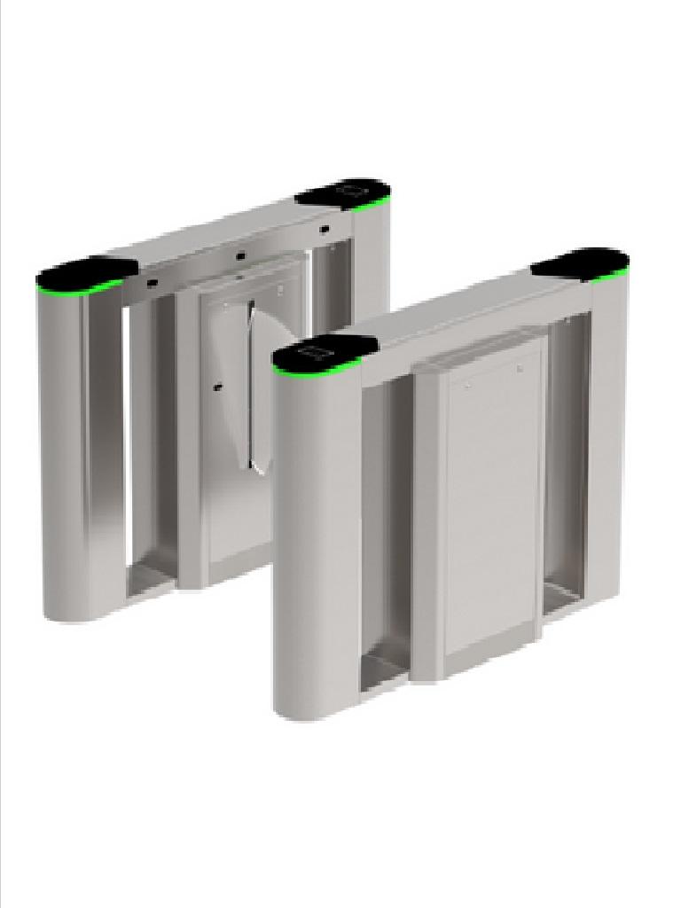 ZKTECO FBL6000PRO - Barrera Peatonal Tipo Flap / Acero Inoxidable / Aletas de Acrílico / Sensores de Proximidad / Sensores Infrarrojos / 1 Carril / Sobre Pedido