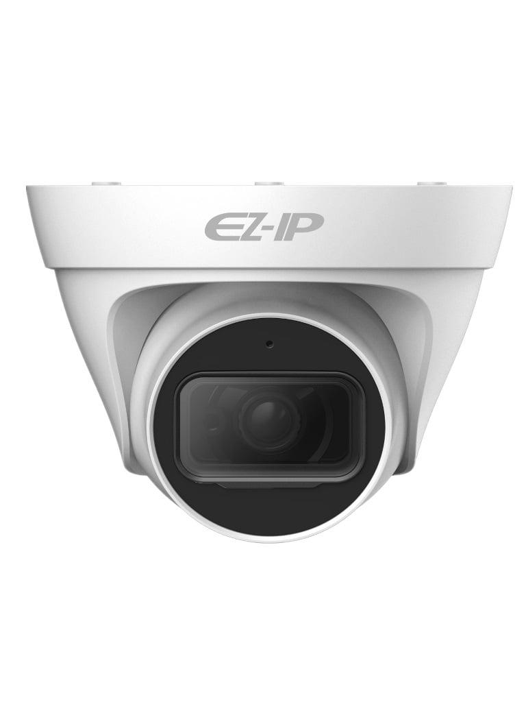 DAHUA EZIP T1B2028 - Camara IP domo 2  MP / H265+ / H265 / 30FPS / Lente 2.8 mm / Angulo de vision 115 grados / Luz ir 30 metros / IP67 /  PoE / DWDR / HLC / ONVIF