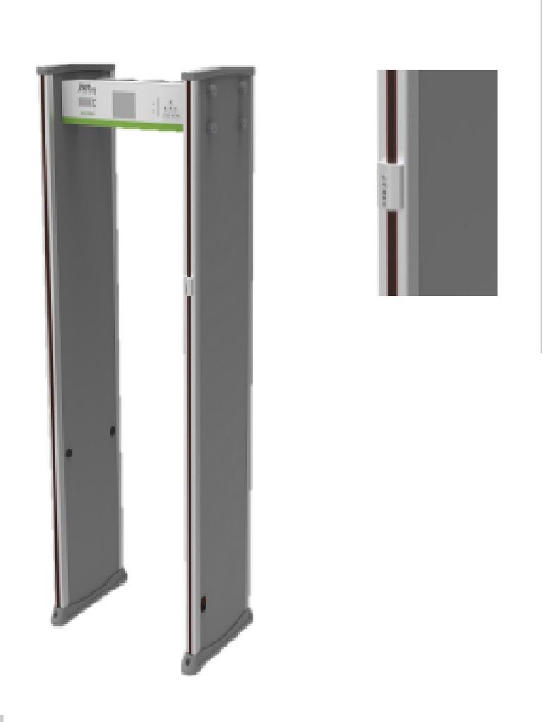 ZKTECO D3180S TD- Arco Detector de Metal con Detección de Fiebre / Antipandemico / Pantalla LCD 5.7  / Alarma Audible e Indicador Led / 18 Zonas de Detección de Metales / #COVID19