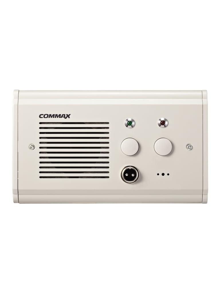 COMMAX JNS4CS - Subestacion de cama para intercomunicacion por voz con unidad de enfermeria, soporta boton pulsador CC200 y botones de emergencia, conexion a JNSPSM