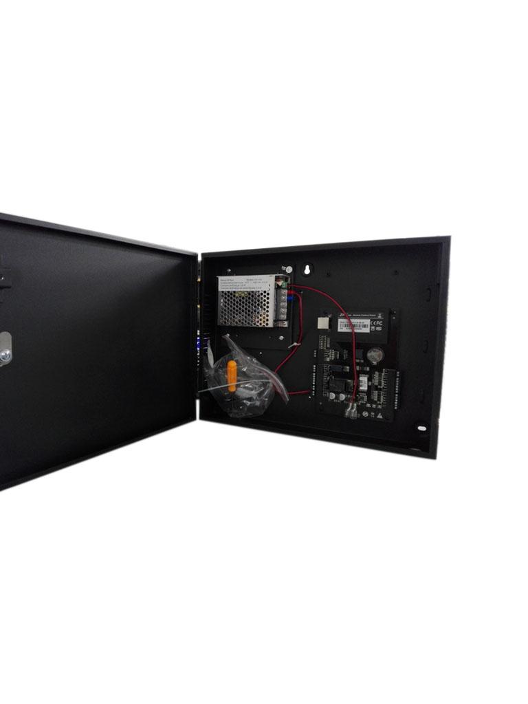 ZKTECO C3100B - Control de Acceso Profesional / 1 Puerta / 2 Lectoras / PULL / Gabinete y Fuente / Sin Biometria