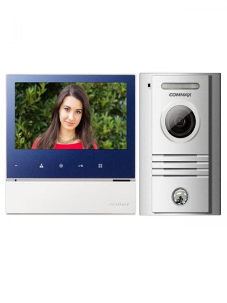 COMMAX -  CDV70H2PAK1-MONITOR Color 7 pulgadas / Y frente de calle de aluminio / Soporta 2 frentes y 2 monitores / Pantalla  LED