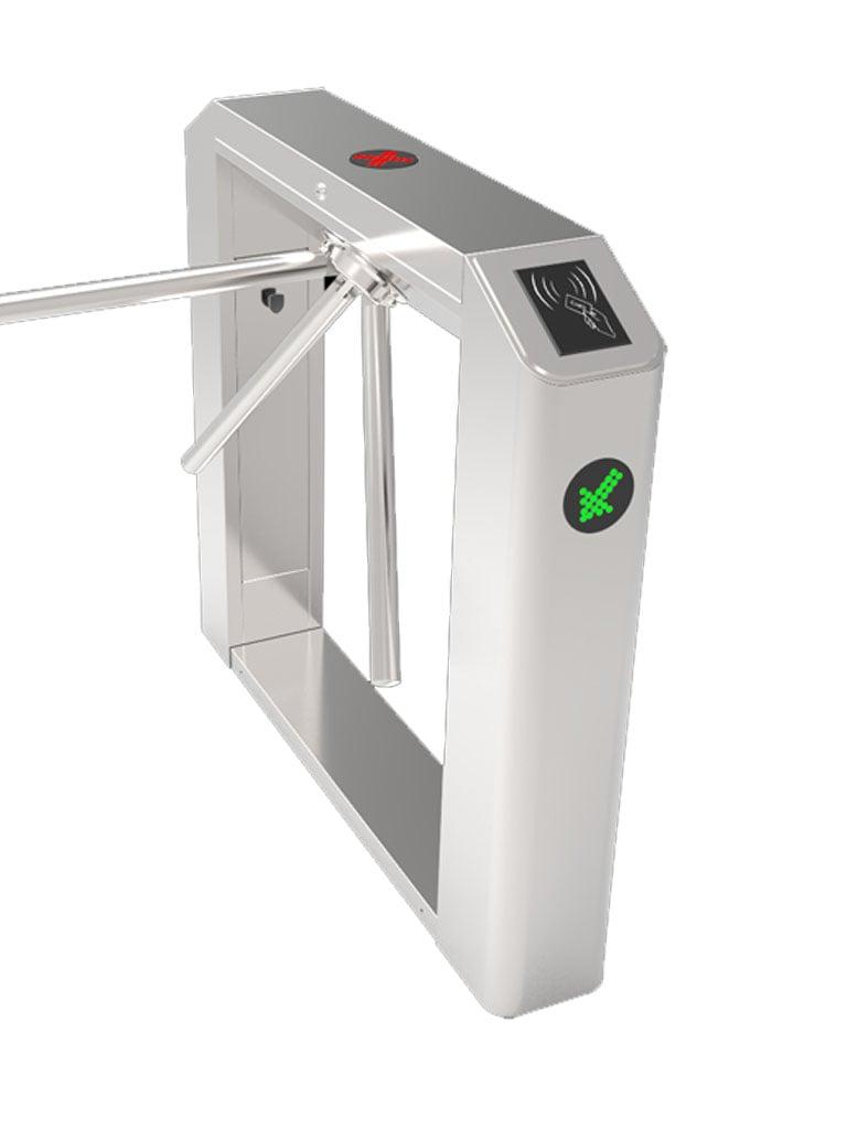 ZKTECO TS2100 - Torniquete Horizontal / Semiautomático / Bidireccional / No Incluye Lectores ni Panel como Accesorios / Diseño Delgado