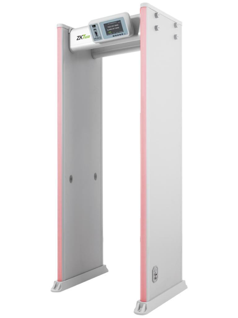 ZKTECO D4330 - Arco Detector de Metal / 33 Zonas / Pantalla 7 pulgadas  HD / 300 Zonas de sensibilidad / Indicadores  LED en ambas vistas / Control Remoto