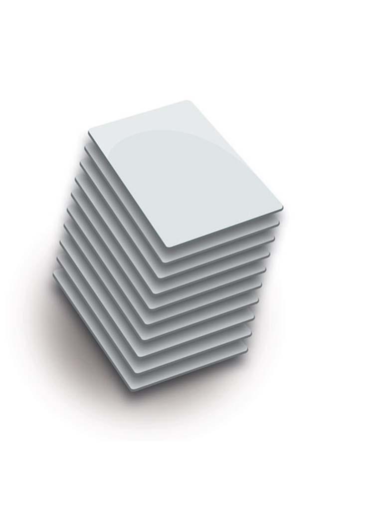 ZKTECO MCS50 - Paquete de 50 Tarjetas Blancas Mifare 13.56 Mhz/ PVC/ Imprimibles/ Modelo A1606002/ 1K