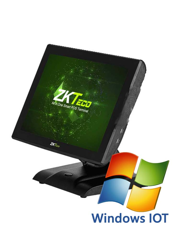 ZK ZK1515IOT - Terminal punto de venta pantalla CAPACITIVA WINDOWSIOT incluido 2G RAM almacenamiento 32G 6 puertos  USB 2.0
