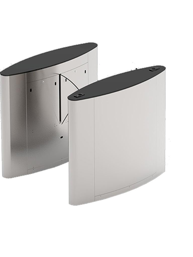 ZKTECO FBL5022 - FLAP BARRIER para Control de Acceso / Incluye Panel INBIO260 PULL SDK / 20 000 Huellas / Lectores FR1200 ID / Cubierta Superior de Cristal Templado Negro