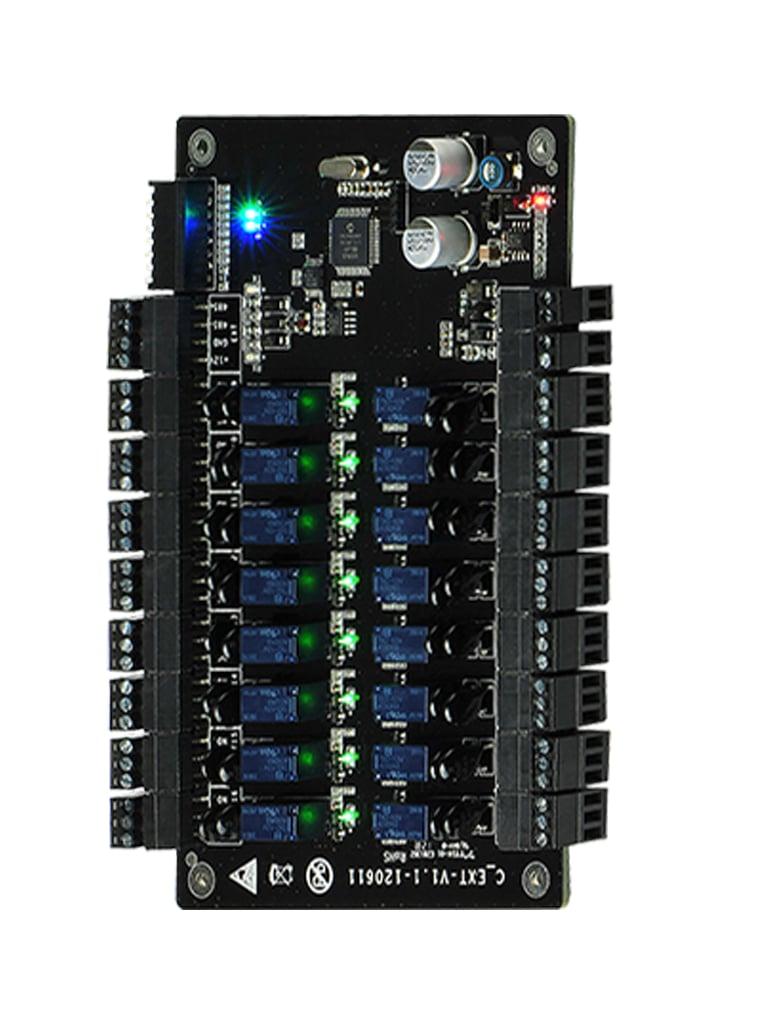ZKTECO EX16 - Lector Esclavo para Panel de Control de Elevadores / 16 Pisos Adicionales / Compatible con panel EC10 ZKTECO / Conexion  RS485 / No incluye fuente
