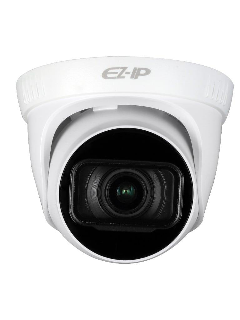 DAHUA EZIP T2B20ZS - Camara IP domo 2  MP / H265+ / H265 / Lente motorizado 2.8 a 12 mm / Ir 40  Mts / IP67 /  PoE / Ranura MICRO SD