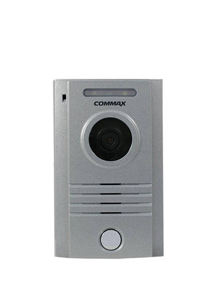 COMMAX DRC40K - Frente de calle de aluminio con notificacion a celular usando monitor CMV70MX indicado para Interior y exterior, compatible con todos los monitores por conexion a 4 hilos