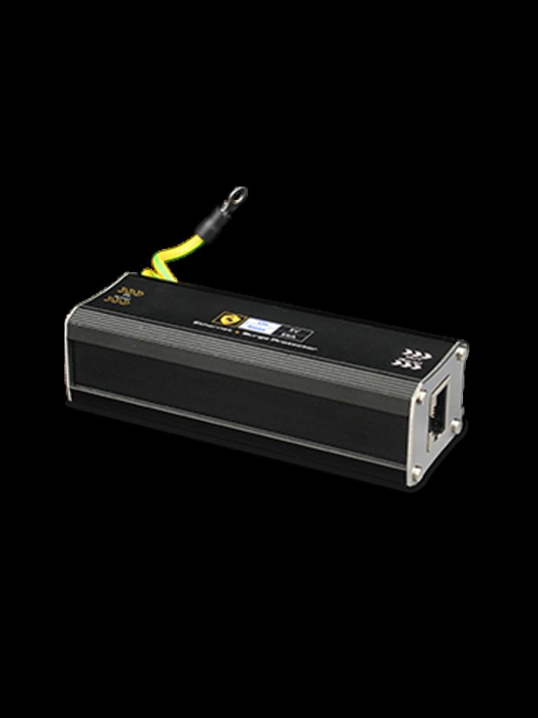 UTEPO USP201E - Protector de sobrecargas para redes / 1 PTO Fe / Para equipos de red en general / Hasta 20V