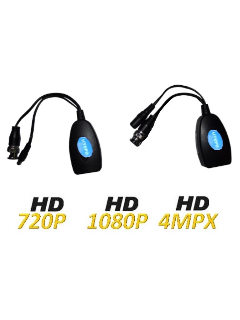 UTEPO UTP101PVHD12- PAR TRANSCEPTORES PASIVOS DE VIDEO HDCVI/ TVI/ AHD/ CVBS/ TRANSMISION DE ENERGIA/ 300M A 720P/ 100M A 1080P
