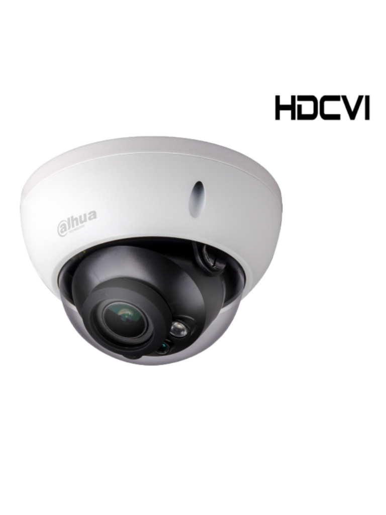 DAHUA HDBW2802RZ - Cámara domo antivandalico  HDCVI 8  MP STARLIGHT / 0.005 Lux color / WDR Real / Lente motorizado 3.7 a 11 mm / Ir 30M / IP67 / IK10