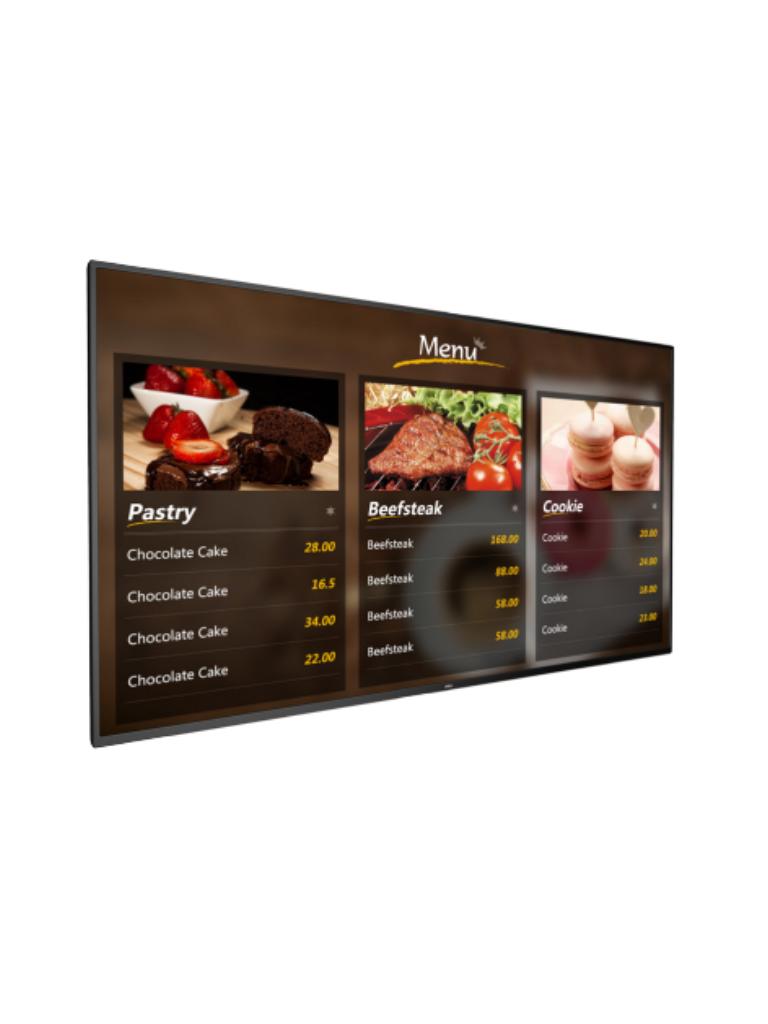 DAHUA LDH55MAI200 - Pantalla digital SIGNAGE  LCD 55 pulgadas / ANDRO ID / Uso interior / Carcasa de metal / Video / Imagenes / Texto administrable REMOTAMENT