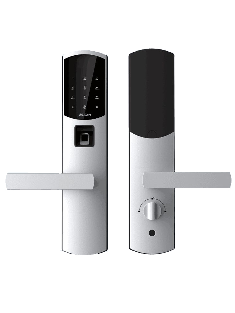 WULIAN SMARTHOTELLOCK - CERRADURA BIOMETRICA INTELIGENTE/ TECLADO / CONTRASEÃ'AS TEMPORALES/ COLOR PLATA MATE
