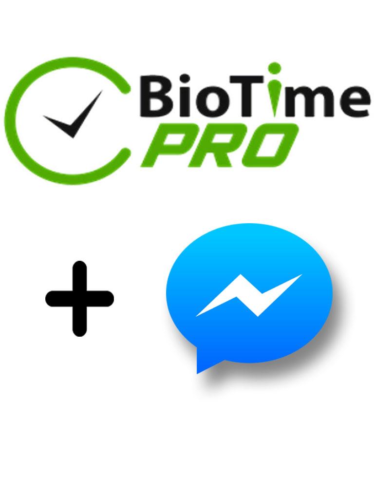 ZKTECO BIOTIMEPROMESSENGERP2 - Licencia vitalicia de 50 cuentas para notificaciones en tiempo real en Facebook Messenger