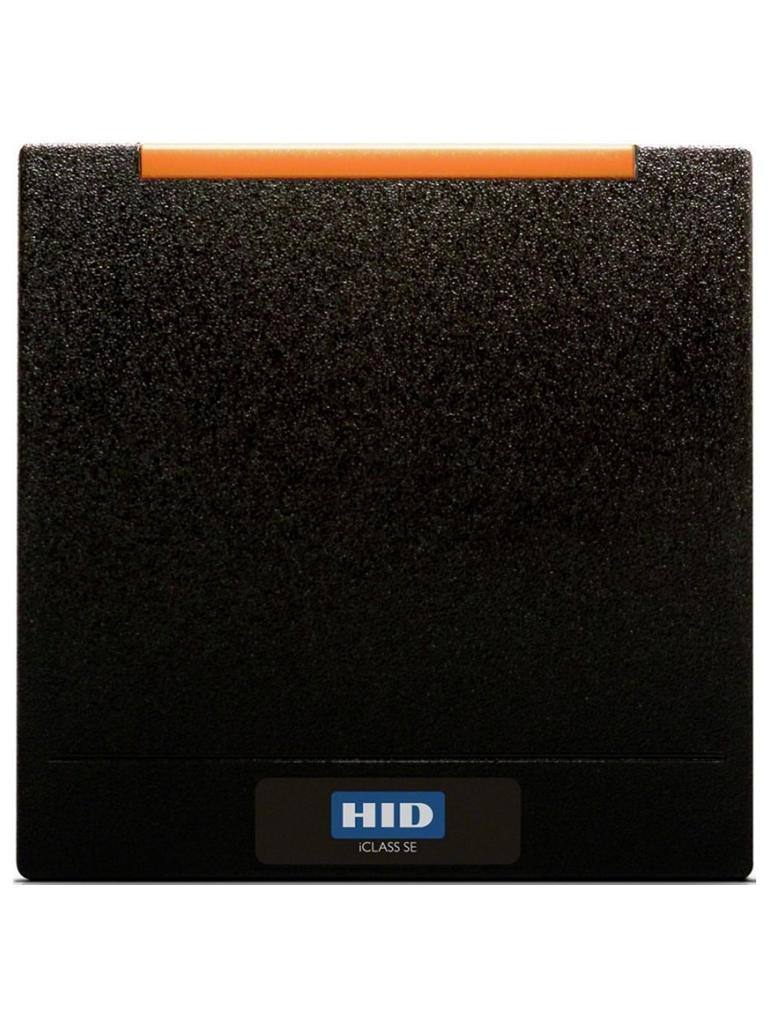 HID R90 - Lectora  iClass se / Modelo R90EKTN / Rango de lectura extendido / Compatible con tarjetas  iClass de  H ID / Protocolo OSDP / SOBREPED IDO