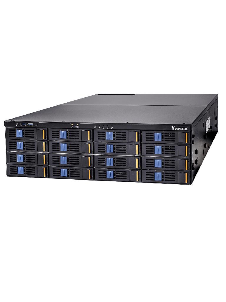 VIVOTEK NR9782 - NVR 128 CANALES/ 16  BAHIAS SATA/HASTA 160 TB/SALIDA HDMI DP DVI/H265/ONVIF/DUAL LAN/ENERGIA REDUNDANTE