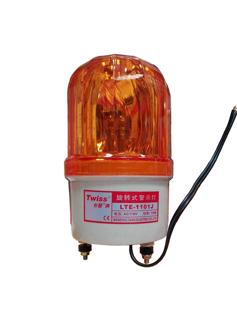 WEJOIN SECULIGHT - Luz estroboscopica giratoria / Alarma audible / Compatible con barreras vehiculares / Motor deslizante