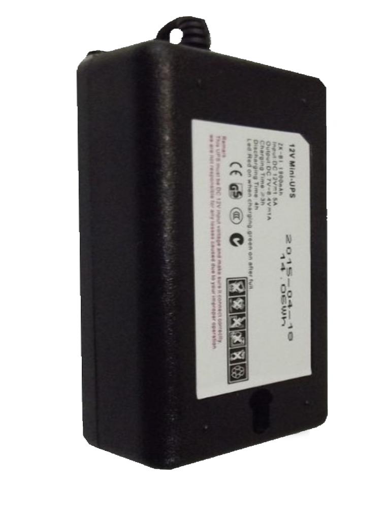ZKTECO UPS12V - Respaldo de 12V para Control de Asistencia 1900mAh / Compatible con Equipos ZKTECO/ Duración de hasta 2 horas en uso
