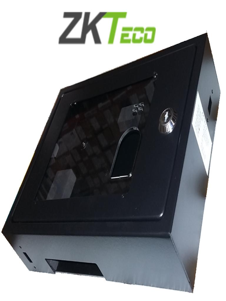 ZKTECO BOX04 - Caja de Protección Metálica Antirayaduras/ Compatible con Equipos X629 y Modelo S1000/ Espacio Disponible para Uso del Sensor de Huellas